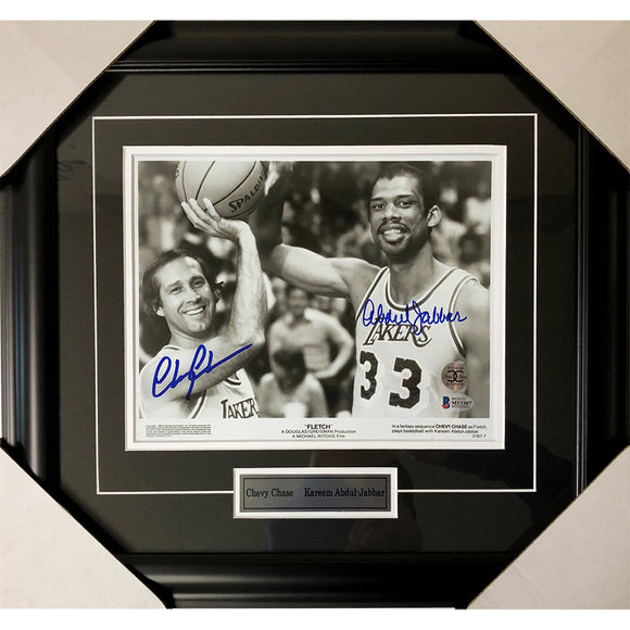 Chevy Chase/Kareem Abdul-Jabbar Framed Autographed Fletch 8X10 Photo