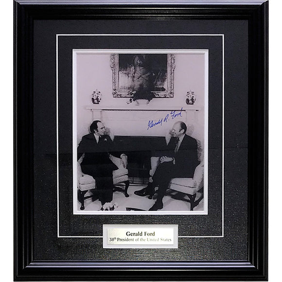 Gerald Ford (deceased) Framed Autographed 8X10 Photo