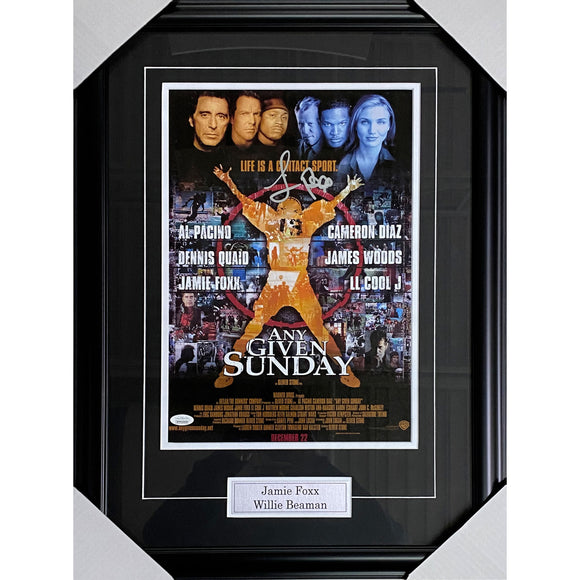 Jamie Foxx Framed Autographed 'Any Given Sunday' 11X17 Movie Poster