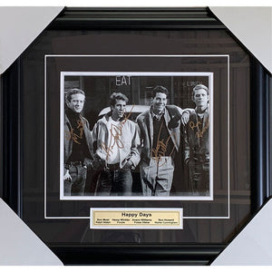 Happy Days Framed Autographed 8X10 Photo (Most, Winkler, Williams, and Howard)