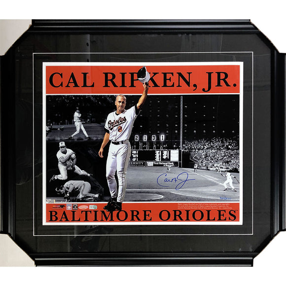 Cal Ripken Jr. Framed Autographed Limited-Edition 16X20 Photo (#360/2000)
