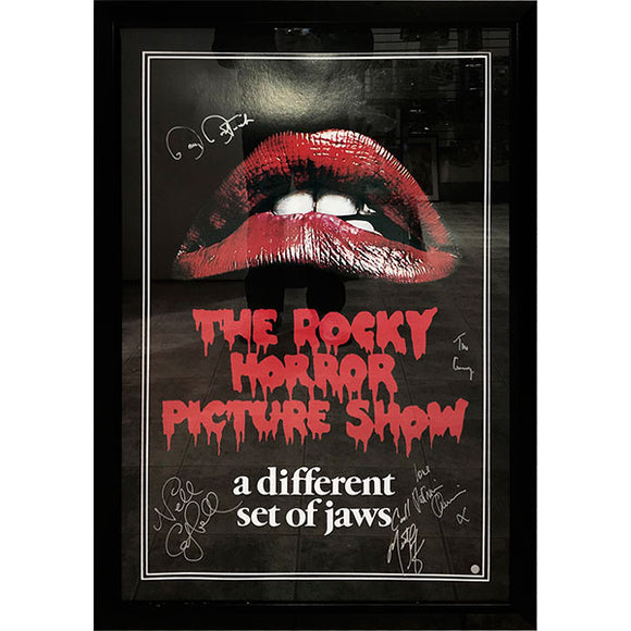 The Rocky Horror Picture Show Cast-Signed Framed Autographed Poster (5 Autographs)