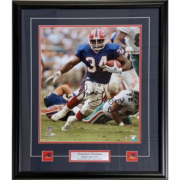 Thurman Thomas Framed Autographed Buffalo Bills 16X20 Photo