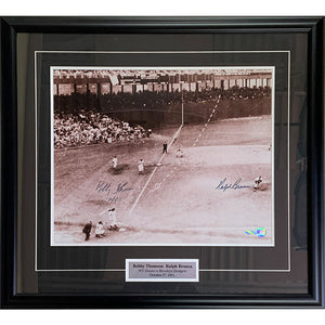 Bobby Thomson (deceased) & Ralph Branca (deceased) Framed Autographed 16X20 Photo