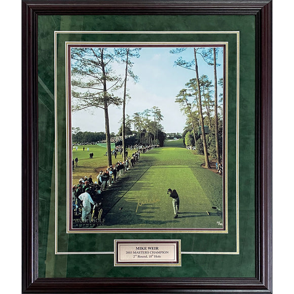 Mike Weir Framed Autographed 2003 Masters Limited-Edition 16X20 Photo