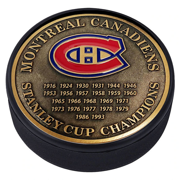 Montreal Canadiens Gold Medallion Puck