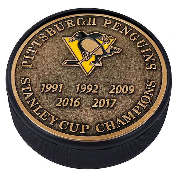 Pittsburgh Penguins Gold Medallion Puck