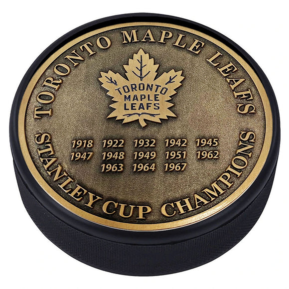 Toronto Maple Leafs Gold Medallion Puck