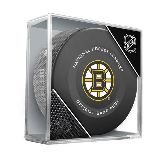 Boston Bruins Official Game Model Puck