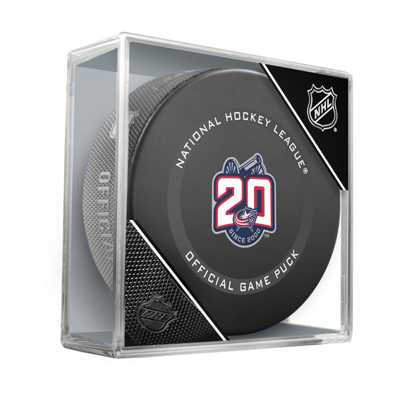Columbus Blue Jackets 20th Anniversary Official Game Model Puck