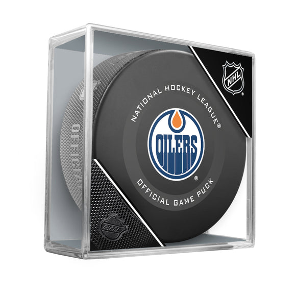 Edmonton Oilers Official Game Model Puck