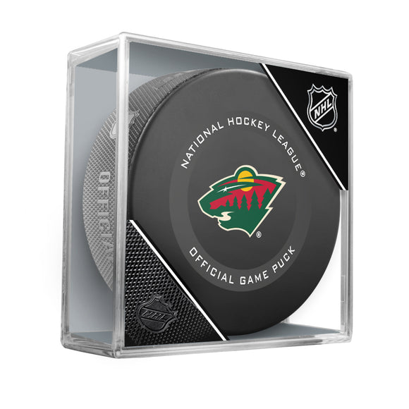 Minnesota Wild Official Game Model Puck