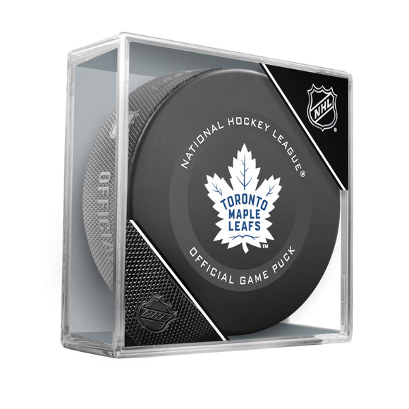 Toronto Maple Leafs Official Game Model Puck