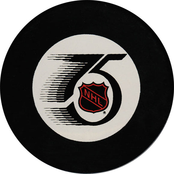 1991-92 NHL 75th Anniversary Official Game Puck