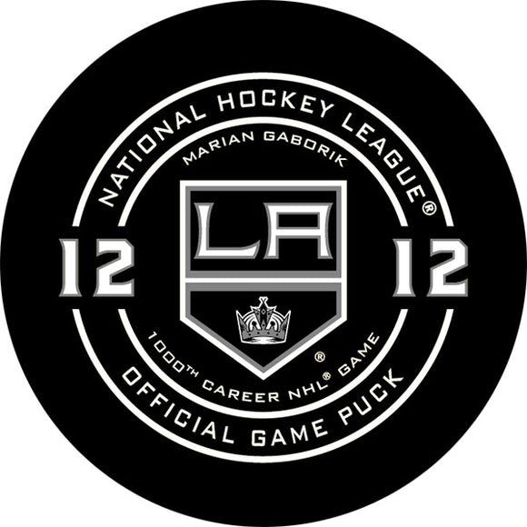 Marian Gaborik 1000th Career NHL Game Official Game Puck