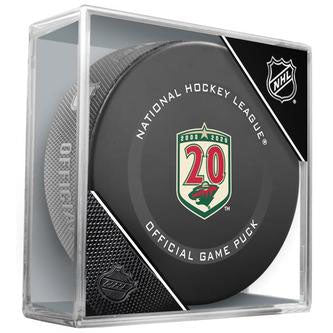 Minnesota Wild 20th Anniversary Official Game Model Puck