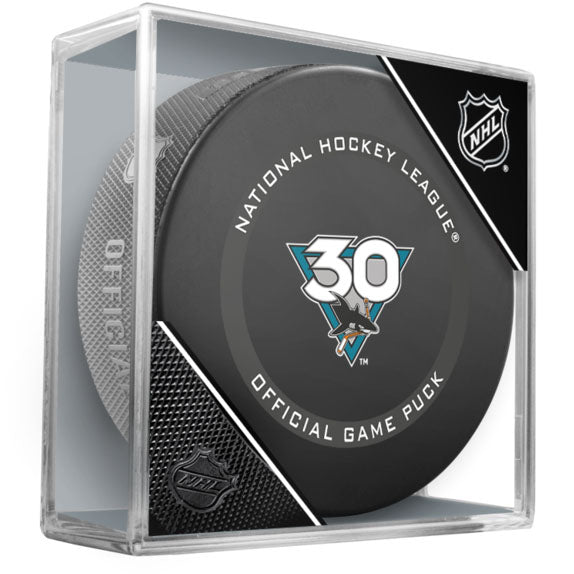 San Jose Sharks 30th Anniversary Official Game Model Puck