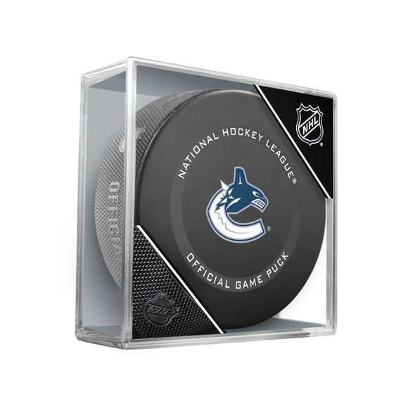 Vancouver Canucks Official Game Model Puck
