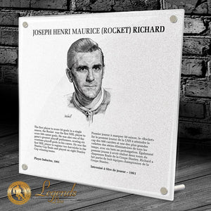 NHL Legends HOF Plaque - Maurice Richard