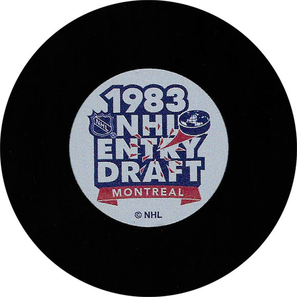 1983 NHL Draft Puck