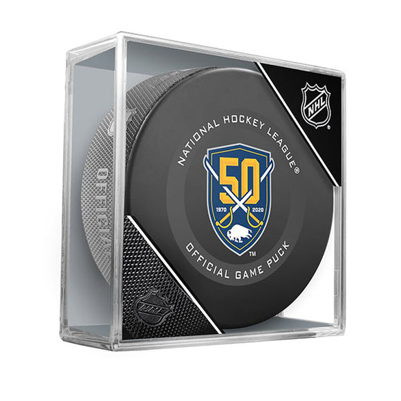 Buffalo Sabres 50th Anniversary Official Game Model Puck