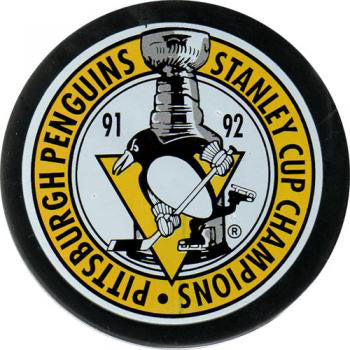 1992 Stanley Cup Pittsburgh Penguins Champions Puck