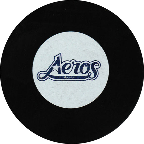 Houston Aeros Old Logo Puck