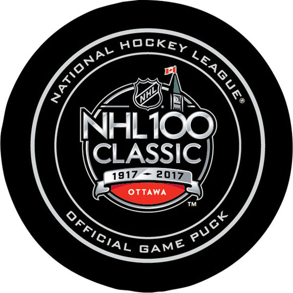 2017 NHL 100 Official Game Puck