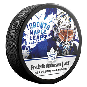 Frederik Andersen Toronto Maple Leafs Photo Puck