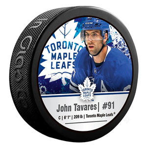 John Tavares Toronto Maple Leafs Photo Puck