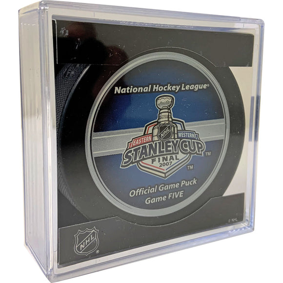 2007 Stanley Cup Finals Game 5 Official Game Puck