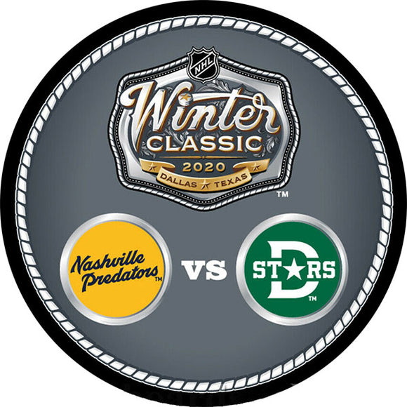 2020 Winter Classic Dueling Logos Puck