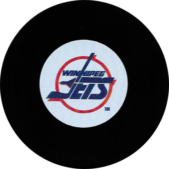 Winnipeg Jets Old Logo Autograph Model Puck