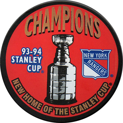 1994 New York Rangers Stanley Cup Champions Puck
