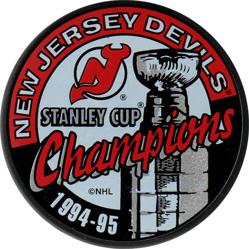 1995 New Jersey Devils Stanley Cup Champions Puck