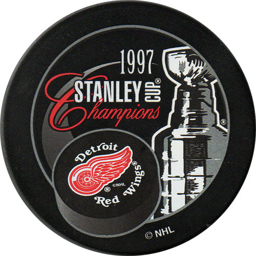 1997 Detroit Red Wings Stanley Cup Champions Puck