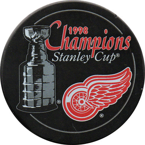 1998 Detroit Red Wings Stanley Cup Champions Puck