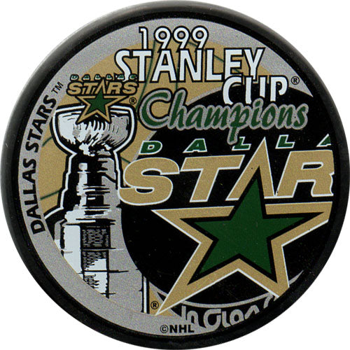 1999 Dallas Stars Stanley Cup Champions Puck