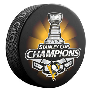 2017 Stanley Cup Pittsburgh Penguins Champions Puck
