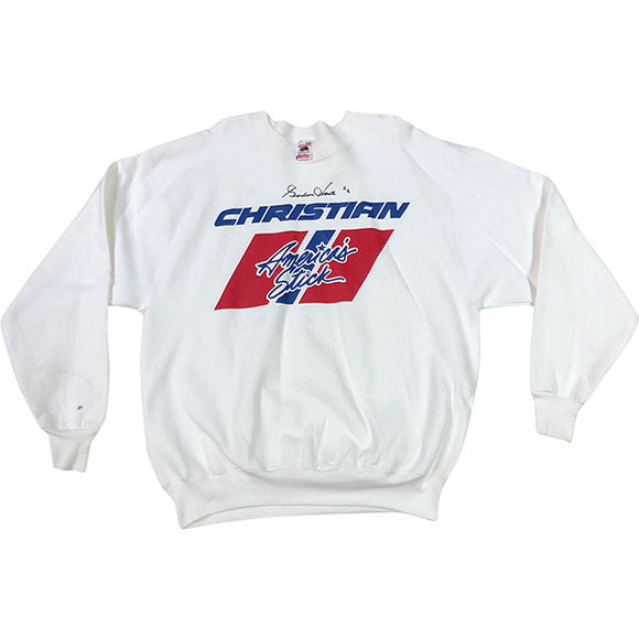 Gordie Howe Autographed Christian Hockey Stick Sweatshirt
