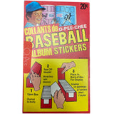 1982 OPC Baseball Stickers Unopened Box w/Case of Albums