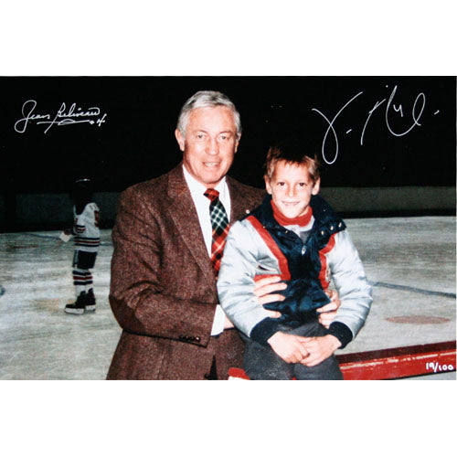 Jean Beliveau/Vincent Lecavalier Autographed 10X15 Combo Photo