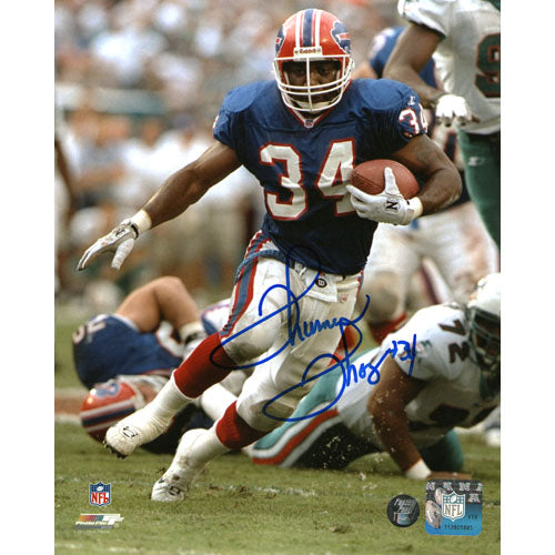 Thurman Thomas Autographed Buffalo Bills 8X10 Photo