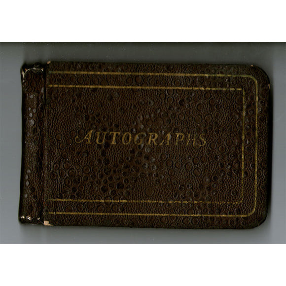 1941-44 Autograph Book - Signed by 12 Deceased HOF'ers