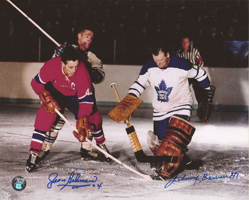 Jean Beliveau/Johnny Bower Autographed 8X10 Combo Photo