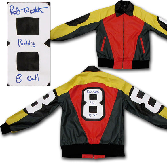 Patrick Warburton Autographed 8-Ball Jacket (David Puddy from Seinfeld)