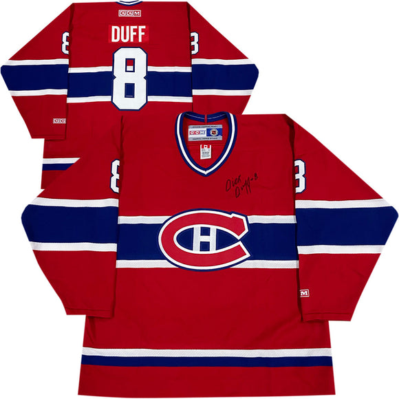 Dick Duff Autographed Montreal Canadiens Vintage CCM Jersey