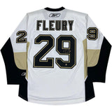 "Marc-Andre Fleury Autographed Pittsburgh Penguins Reebok Jersey w/""09 Cup Inscription"