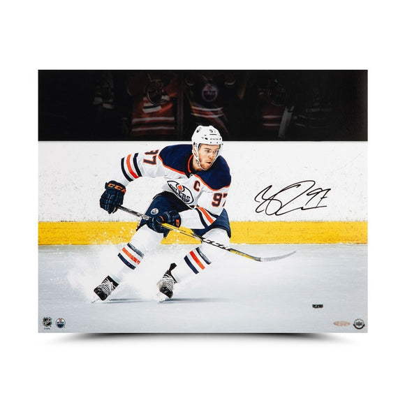 Connor McDavid Autographed 16X20 Photo