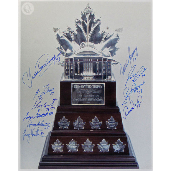 Conn Smythe Trophy 11X14 Photo (10 signatures)